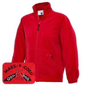 Maes-y-coed Primary Red Fleece Jacket