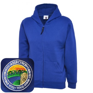 Abercynon Community Primary Blue Zipped Hoodie