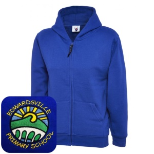 Edwardsville Primary Blue Zipped Hoodie