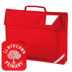 Llwyncrwn Primary Red Book Bag