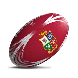 British & Irish Lions NZ 2017 Rhino Supporters Rugby Ball Red