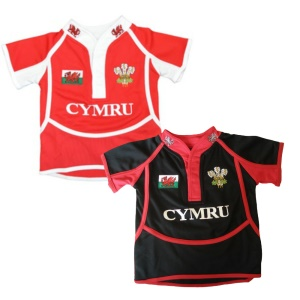 Kids New Cooldry Welsh Rugby Shirt
