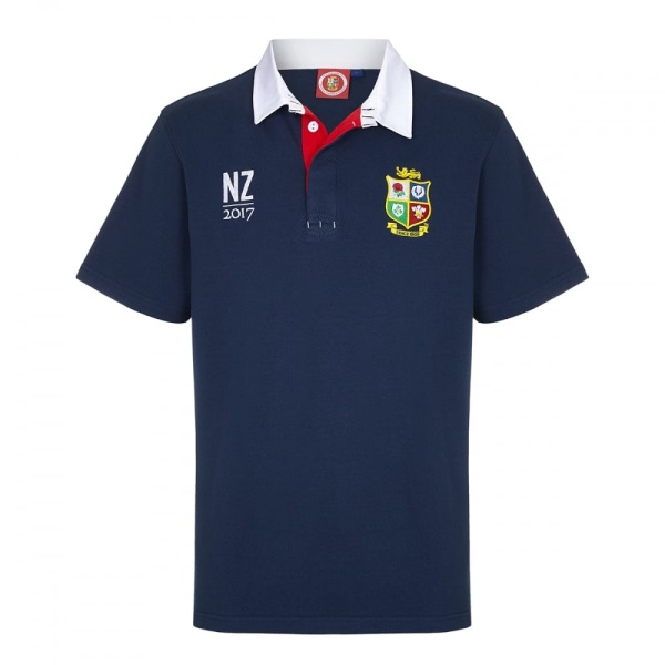 0361e8c84e0 Official Lions Tour 2017 Supporter Navy Short Sleeve Rugby Shirt