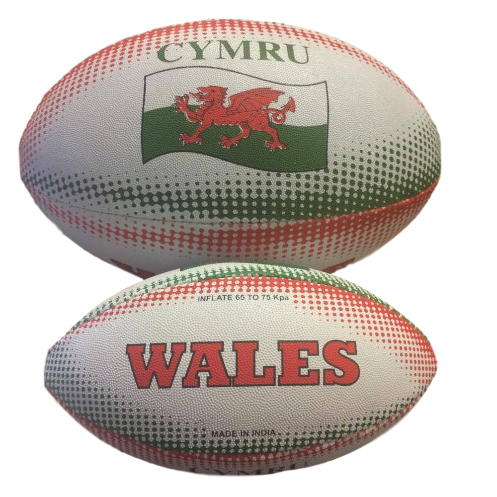 Wales Hand Stitched Rugby Balls