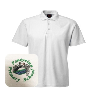 Pontyclun Primary White Polo