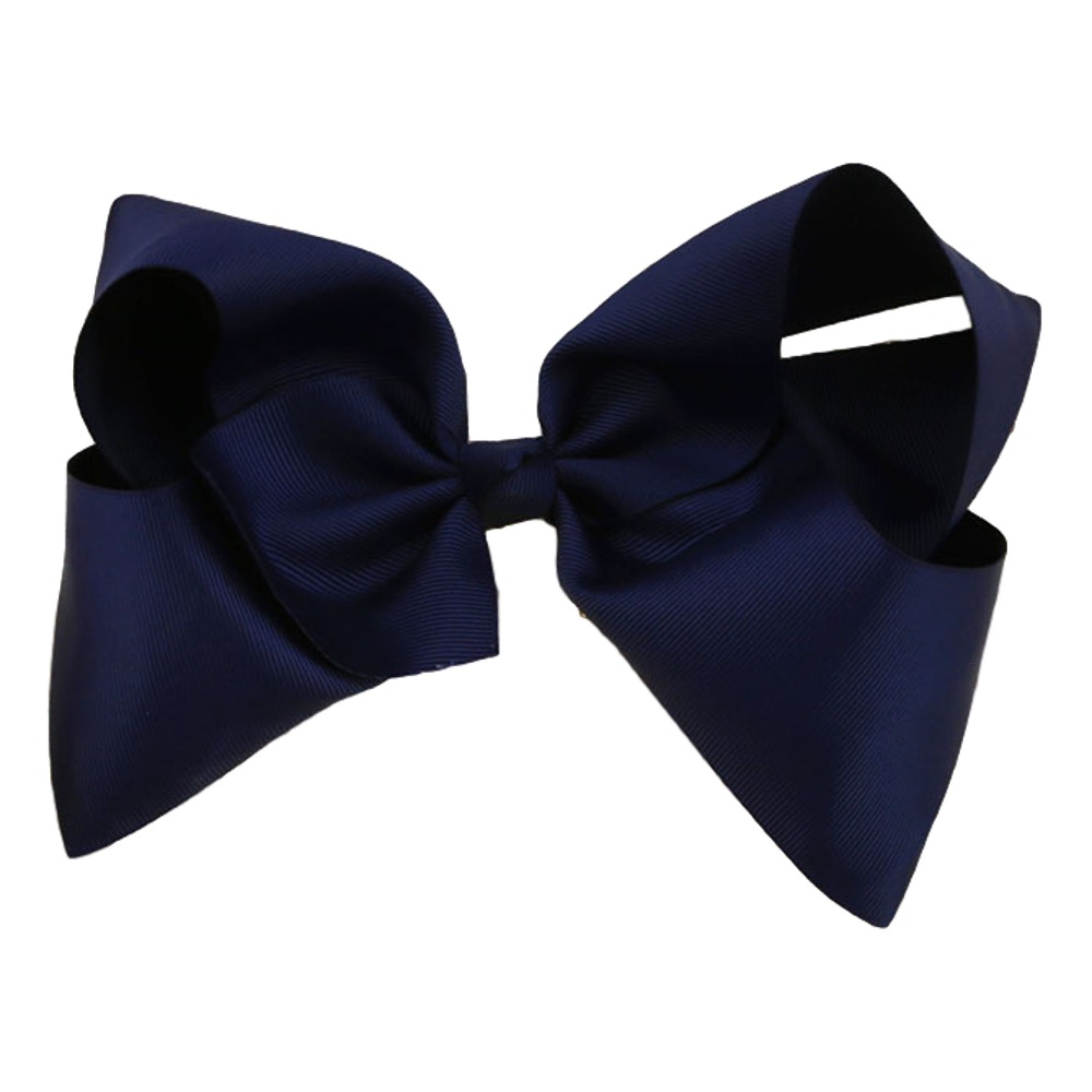 Maya Hair Bow- Navy