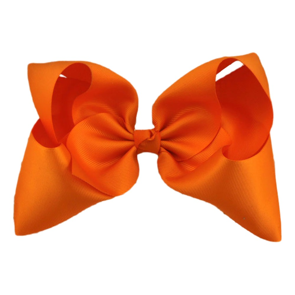 Maya Hair Bow- Orange