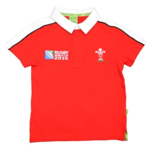 Childrens Official RWC 2015 Short Sleeve Rugby Shirt