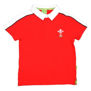 Childrens Official WRU Short Sleeve Rugby Shirt