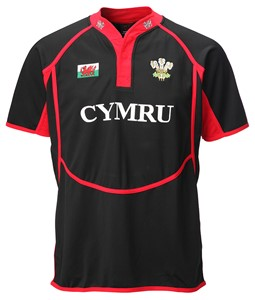 New Cooldry Welsh Rugby Shirt: Red or Black