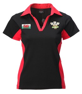 Ladies New Contrast Short Sleeved Rugby Shirt