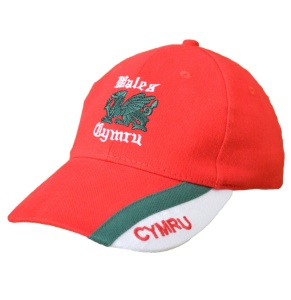 Kids Welsh Red Cap with Green Dragon