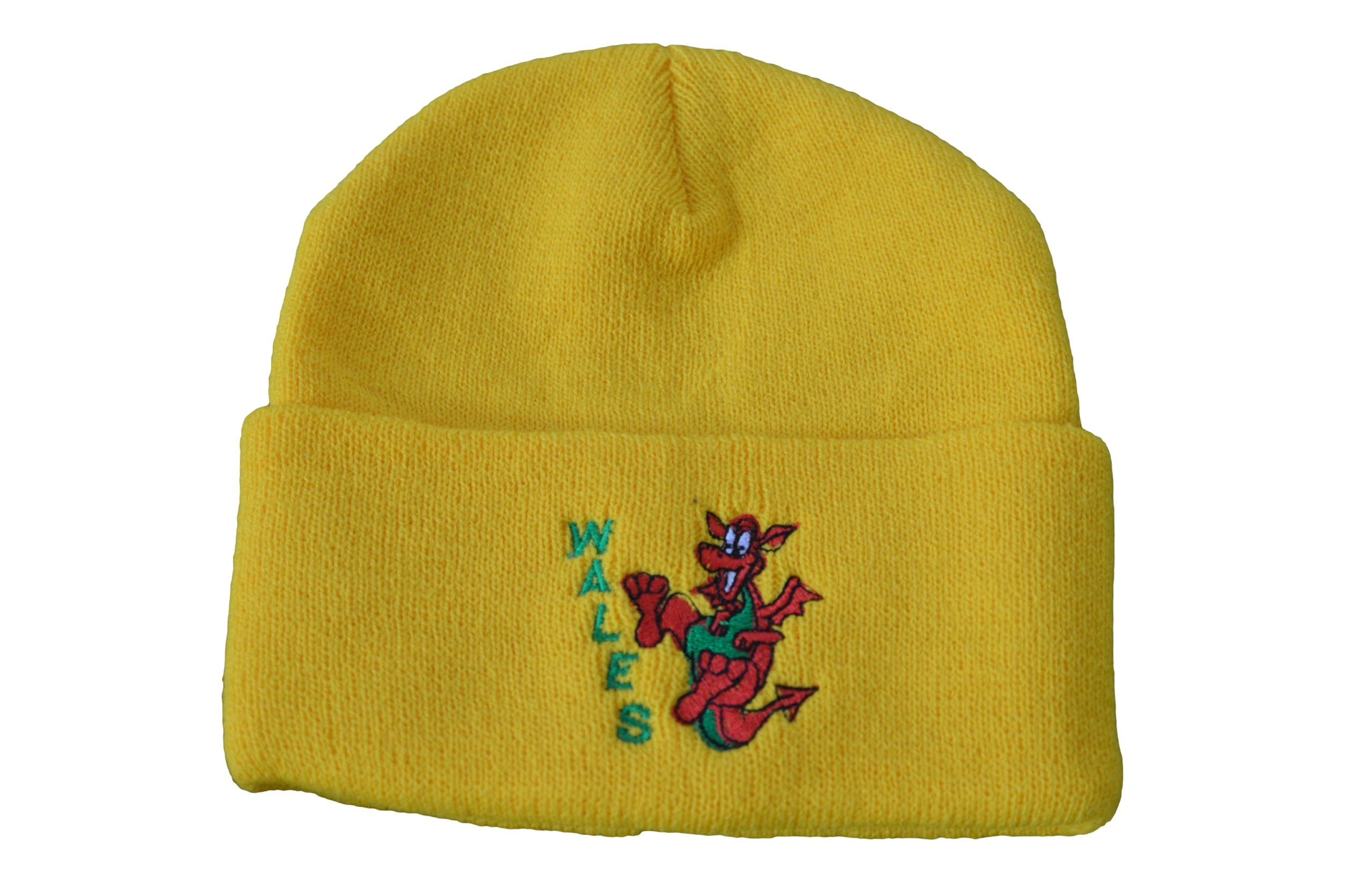 Kids Yellow Dancing Dragon Ski Hat