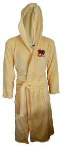 Mens Welsh Dragon Coral Fleece Dressing Gown