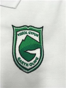 Ysgol Gyfyn Garth Olwg Girls Fitted White Polo Shirt *SUMMER UNIFORM*