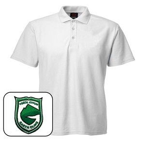 Ysgol Gyfyn Garth Olwg White Polo Shirt *SUMMER UNIFORM*