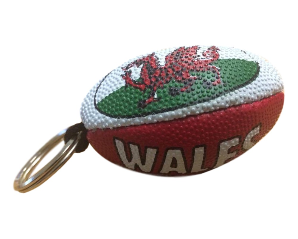 Welsh Rugby Ball Keyring