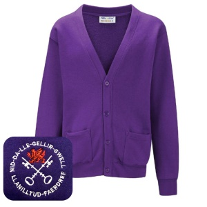 Llanilltud Faerdref Primary Purple Cardigan