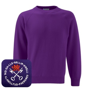 Llanilltud Faerdref Primary Purple Sweatshirt