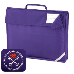 Llanilltud Faerdref Primary Purple Book Bag