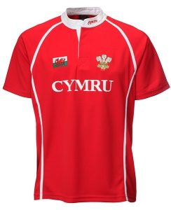Kids Basic Cooldry Welsh Rugby Shirt