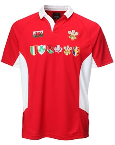 Multi Logo Cooldry Welsh Rugby Shirt