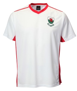 Welsh White V Neck Football Shirt