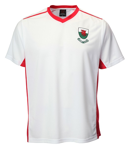 Welsh 'Bale' White V Neck Football Shirt