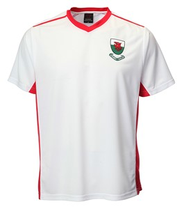 Kids Welsh 'Bale' White V Neck Football Shirt