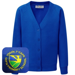 Cefn Primary Blue Cardigan