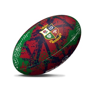 British & Irish Lions Rhino Graffiti Rugby Ball Red