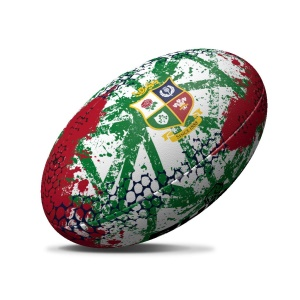 British & Irish Lions Rhino Graffiti Rugby Ball White