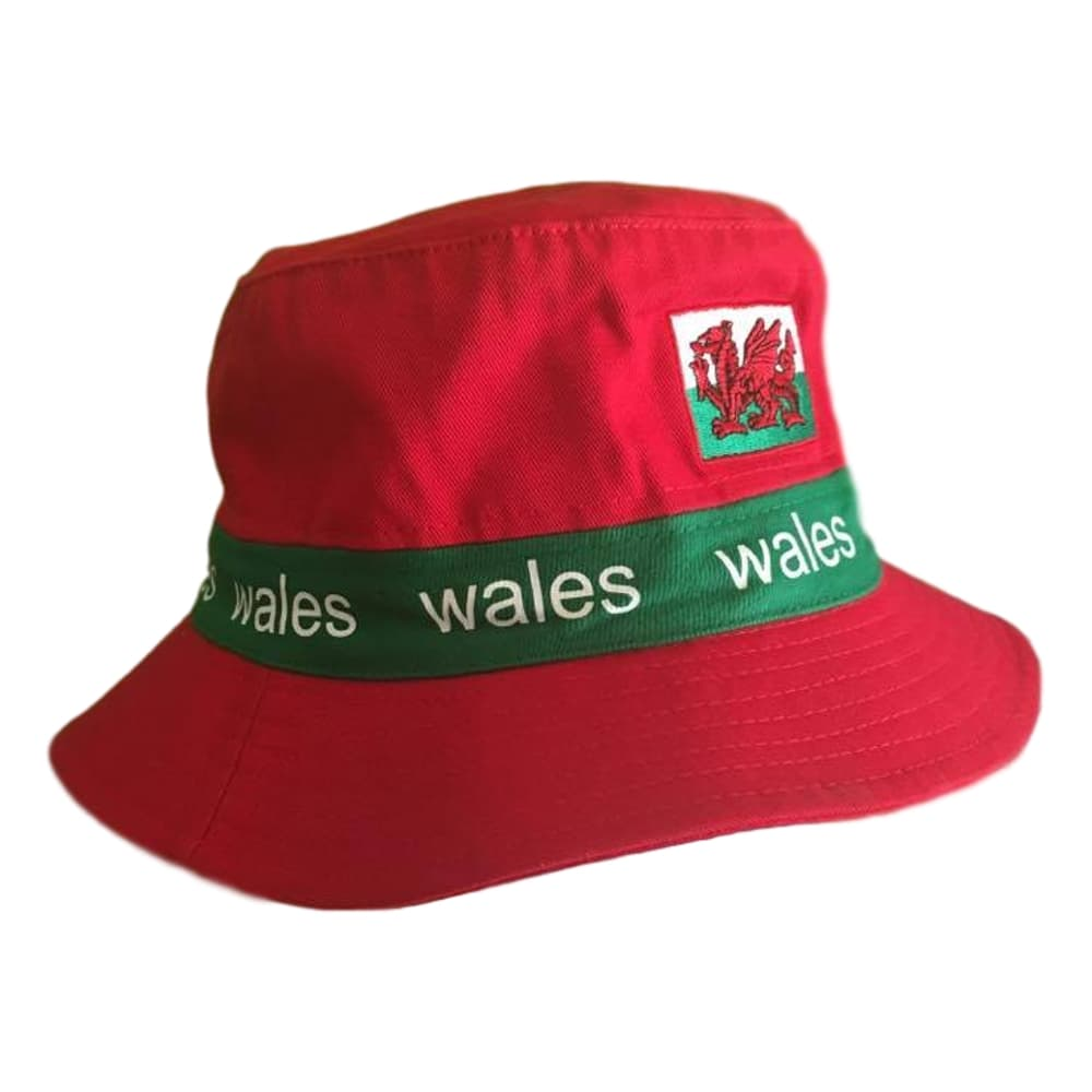 aaed3267c4802 ... Welsh Bucket Hat- Red