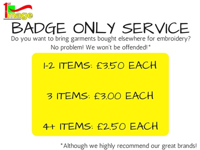 'BADGE ONLY' SERVICE