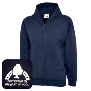 Coedpenmaen County Primary Navy Zipped Hoodie