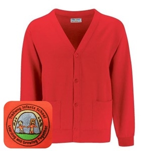 Trallwng Infants Red Cardigan