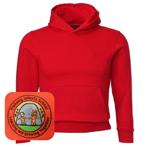 Trallwng Infants Red Overhead Hoodie