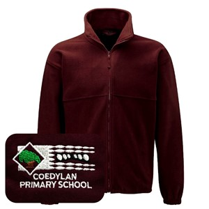Coed Y Lan PrImary Burgandy Fleece Jacket