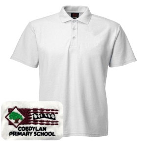 Coed Y Lan Primary White Polo