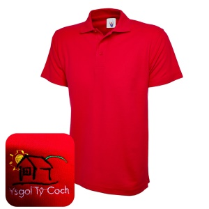 Ty Coch *POST 16* Red Polo Shirt