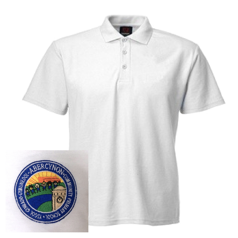 Abercynon Community Primary White Polo
