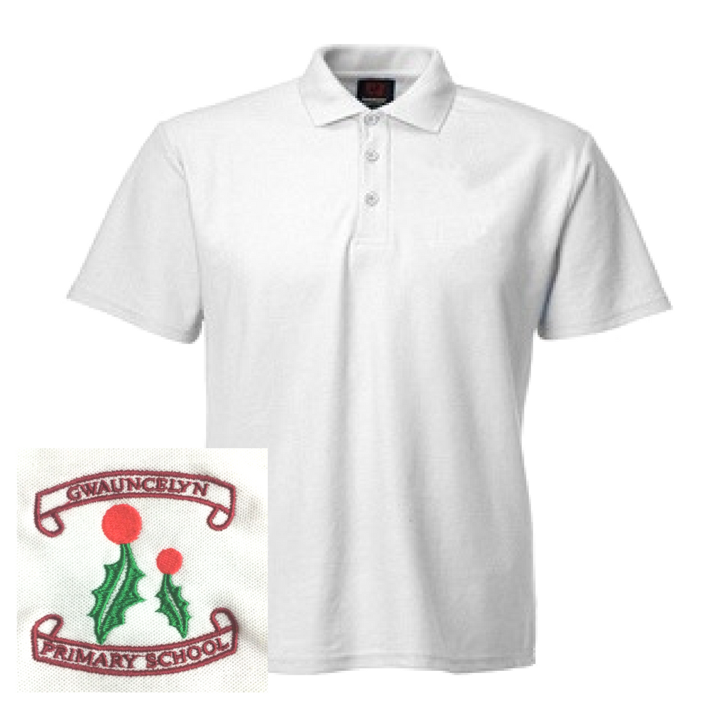 Gwauncelyn Primary White Polo