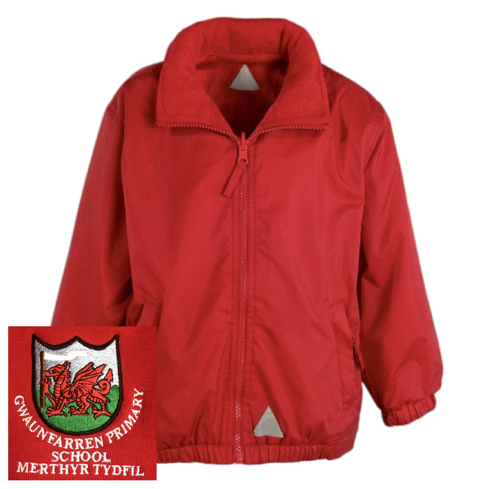 Gwaunfarren Primary School Red Mistral Jacket