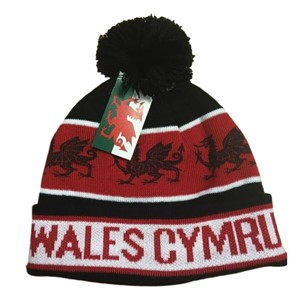 Welsh Black Dragon Bobble Hat
