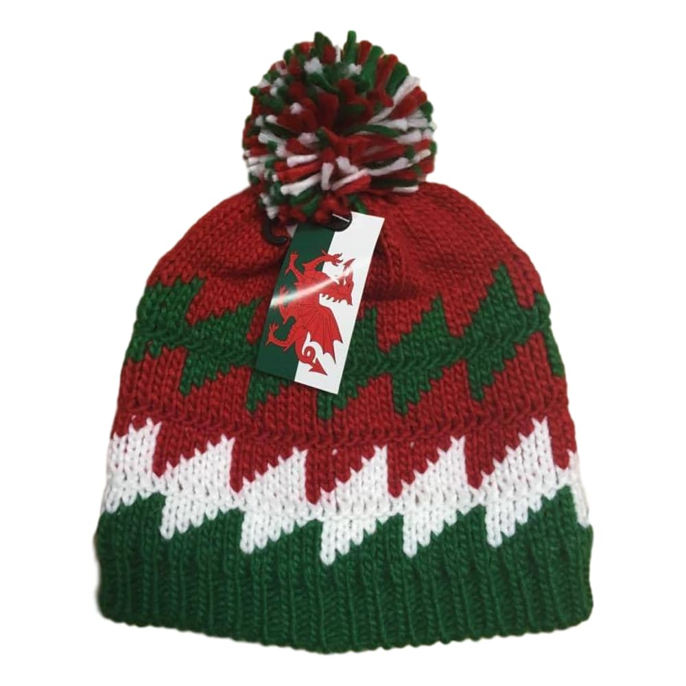 Welsh Tri Colour Bobble Hat