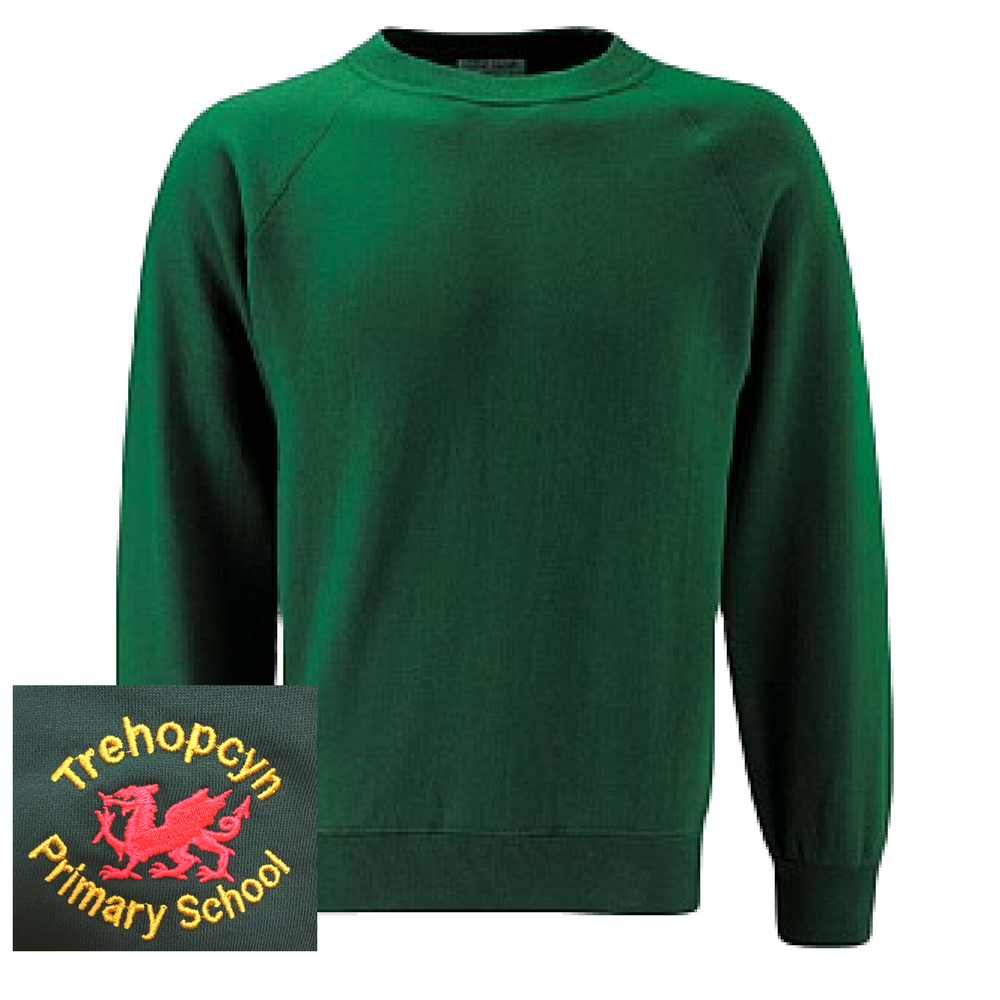 Trehopcyn Primary Bottle Green Sweatshirt