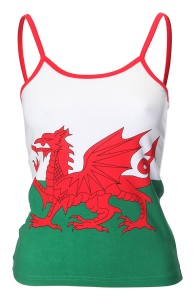 Ladies Welsh Flag Camisole