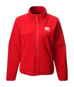 Ladies Welsh Red Fleece Jacket