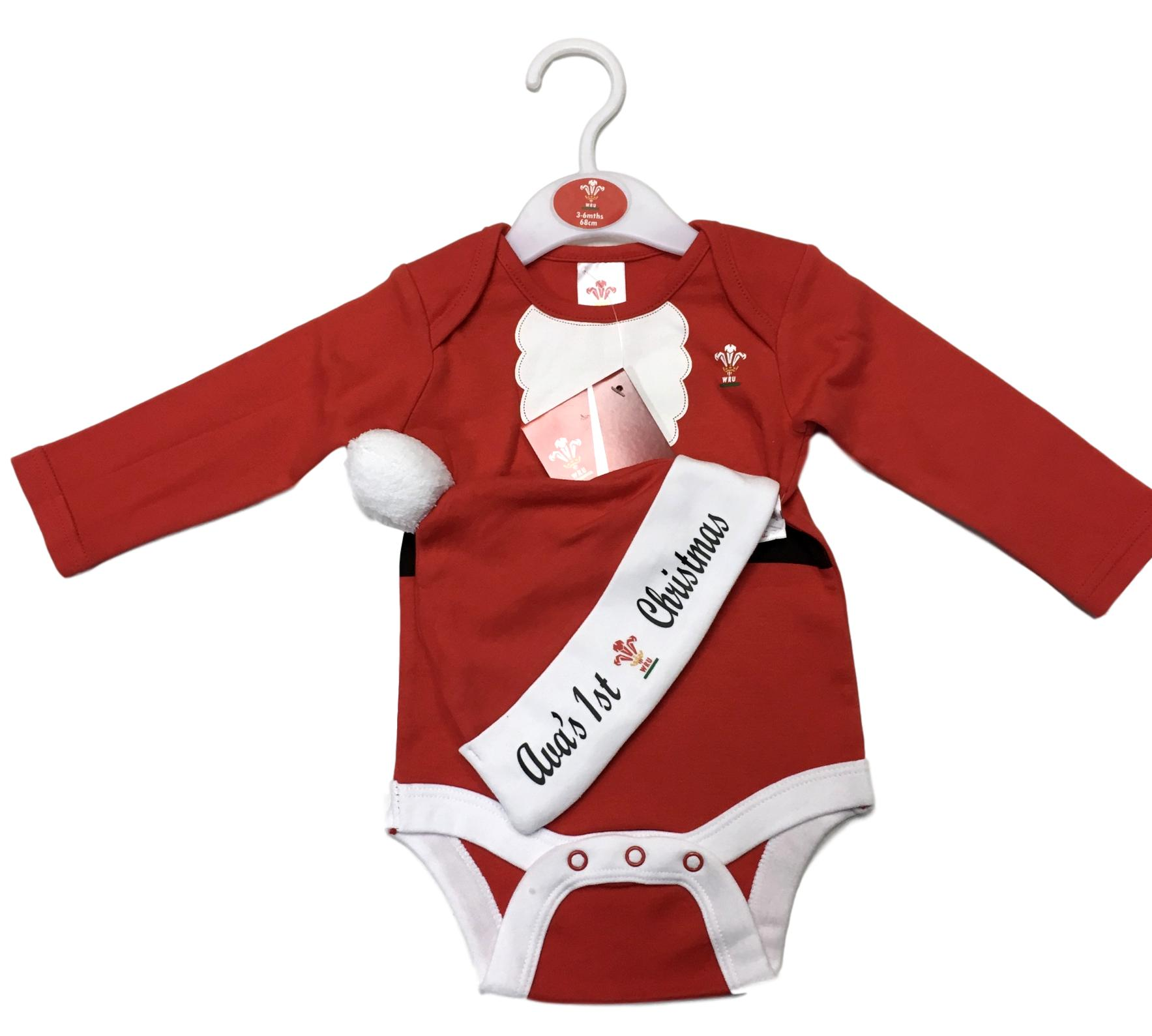 WRU Baby Christmas Santa Body and Hat Set