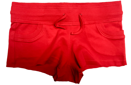 Red Jersey 'Natalie' Ladies Shorts